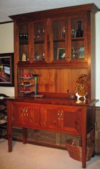 heart pine sideboard and hutch